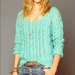 Free People Cable Knit Sweater Sz Small